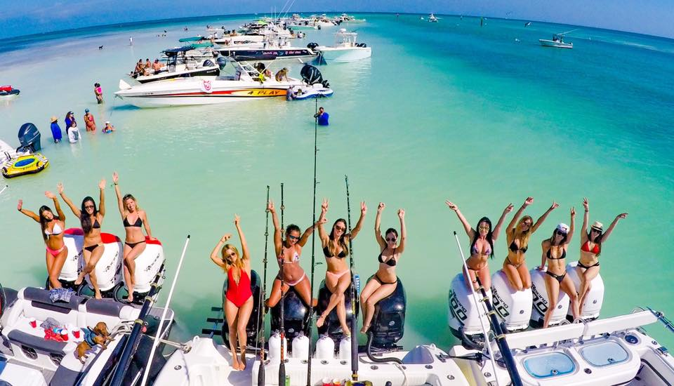 The party experience rent a boat with a captain for Miami fishing party boat